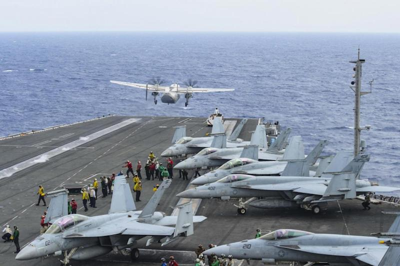 The aircraft came down in the Philippine Sea (AFP/Getty Images)