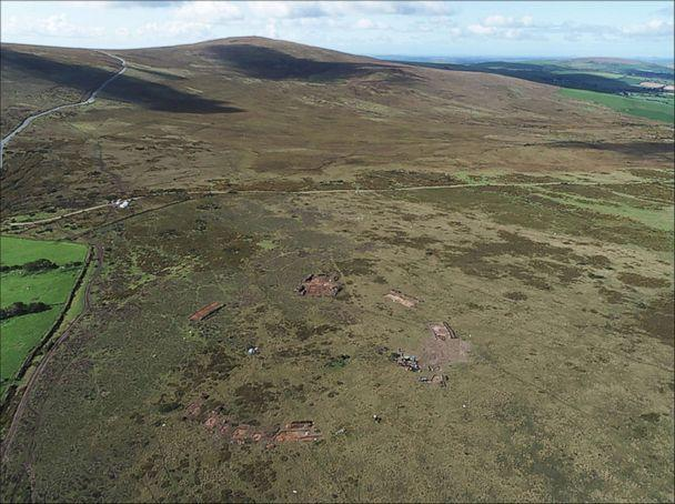 PHOTO: The Waun Mawn stone circle in the Preseli Hills in north Pembrokeshire, west Wales, during excavation in 2018, viewed from the north. (Adam Stanford/Parker Pearson et al./Antiquity Publications Ltd)