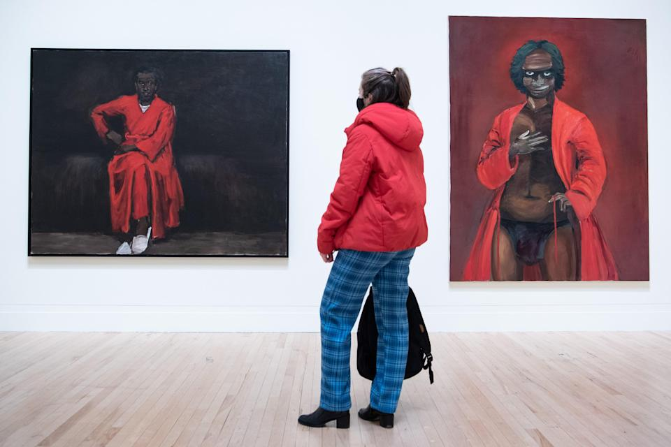 <p>Lynette Yiadom-Boakye's show at Tate Britain</p> (Getty Images)