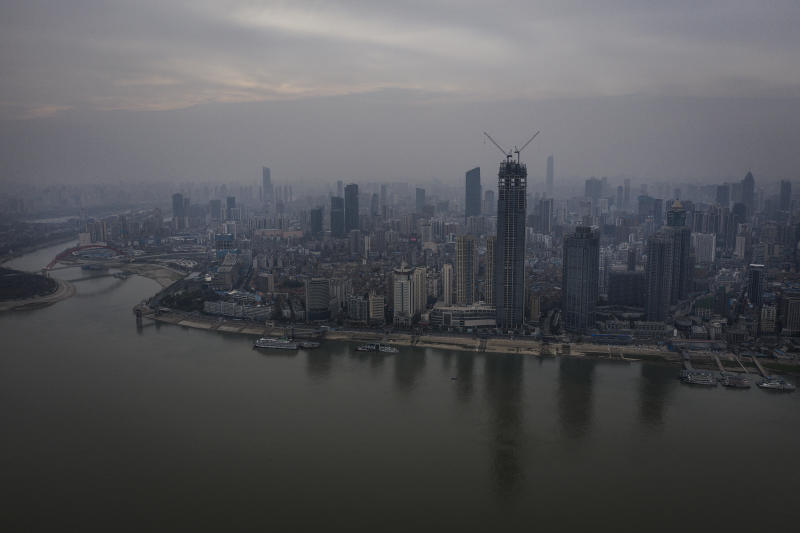 Picture of the skyline in Wuhan, the Chinese city where the virus was first detected