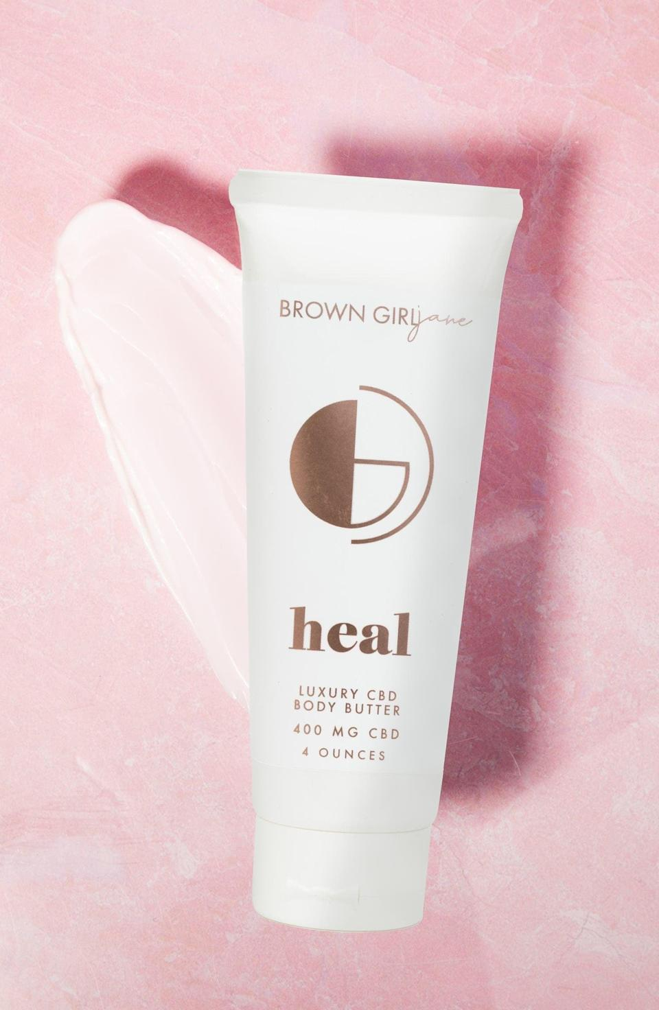 <p>Massage your body with the <span>Brown Girl Jane Heal Whipped CBD Body Butter</span> ($52).</p>