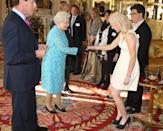 """<p>We'd like to think that Prince Harry's grandma set him up with Ellie Goulding after this meeting at Buckingham Palace. After all, it happened the same year the two were <a href=""""https://www.cosmopolitan.com/entertainment/celebs/g13938217/prince-harry-dating-history/"""" rel=""""nofollow noopener"""" target=""""_blank"""" data-ylk=""""slk:reportedly linked"""" class=""""link rapid-noclick-resp"""">reportedly linked</a>. Coincidence? We think not.</p>"""