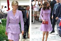 Princess Diana in 1997; Kate Middleton wearing Emilia Wickstead in 2017