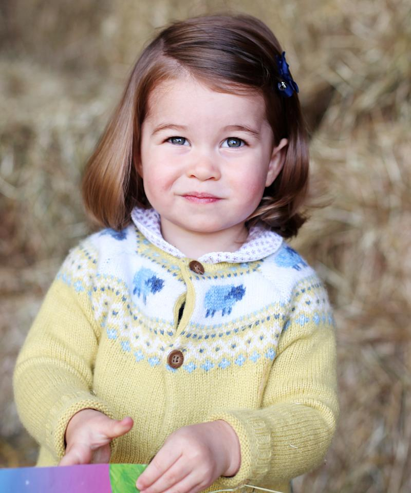 "<p>Kensington Palace shared this photograph, taken by Kate Middleton, a day before Charlotte's second birthday. ""Their Royal Highnesses would like to thank everyone for all of the lovely messages they have received, and hope that everyone enjoys this photograph of Princess Charlotte as much as they do,"" <a rel=""nofollow"" href=""http://www.instyle.com/news/princess-charlotte-2nd-birthday-photo-kate-middleton"">the accompanying caption read</a>.</p>"