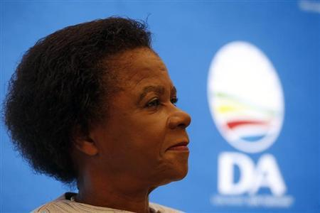 Anti-apartheid activist Mamphela Ramphele listen to questions at a news conference in Cape Town