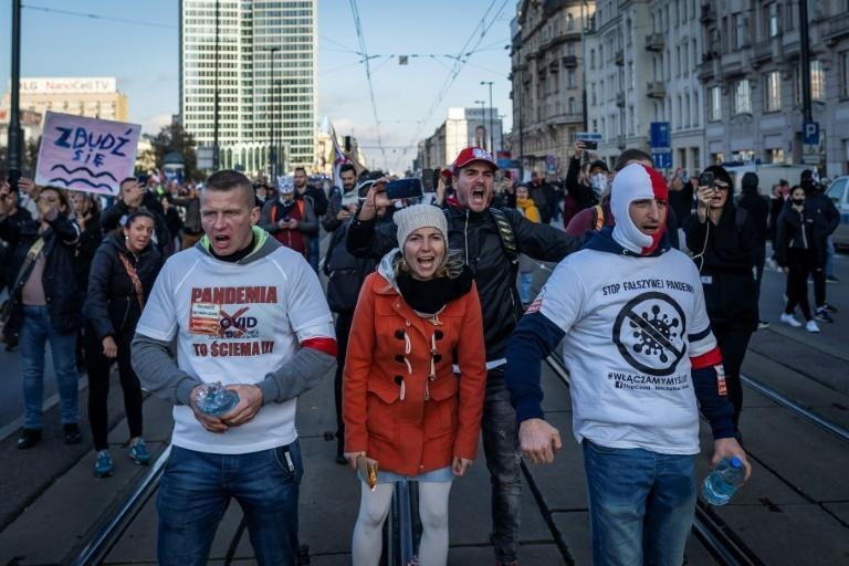 Demonstrations against coronavirus restrictions have taken place across Europe, from Portugal to Poland