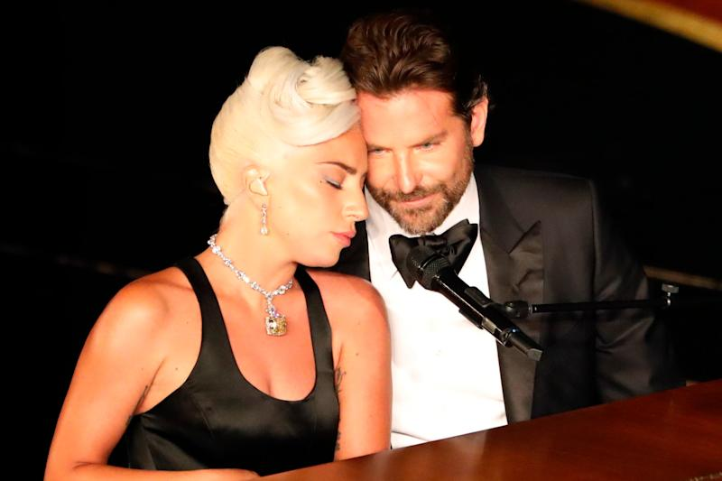 Chemistry: Gaga and Cooper were praised for their Oscars performance (Reuters)