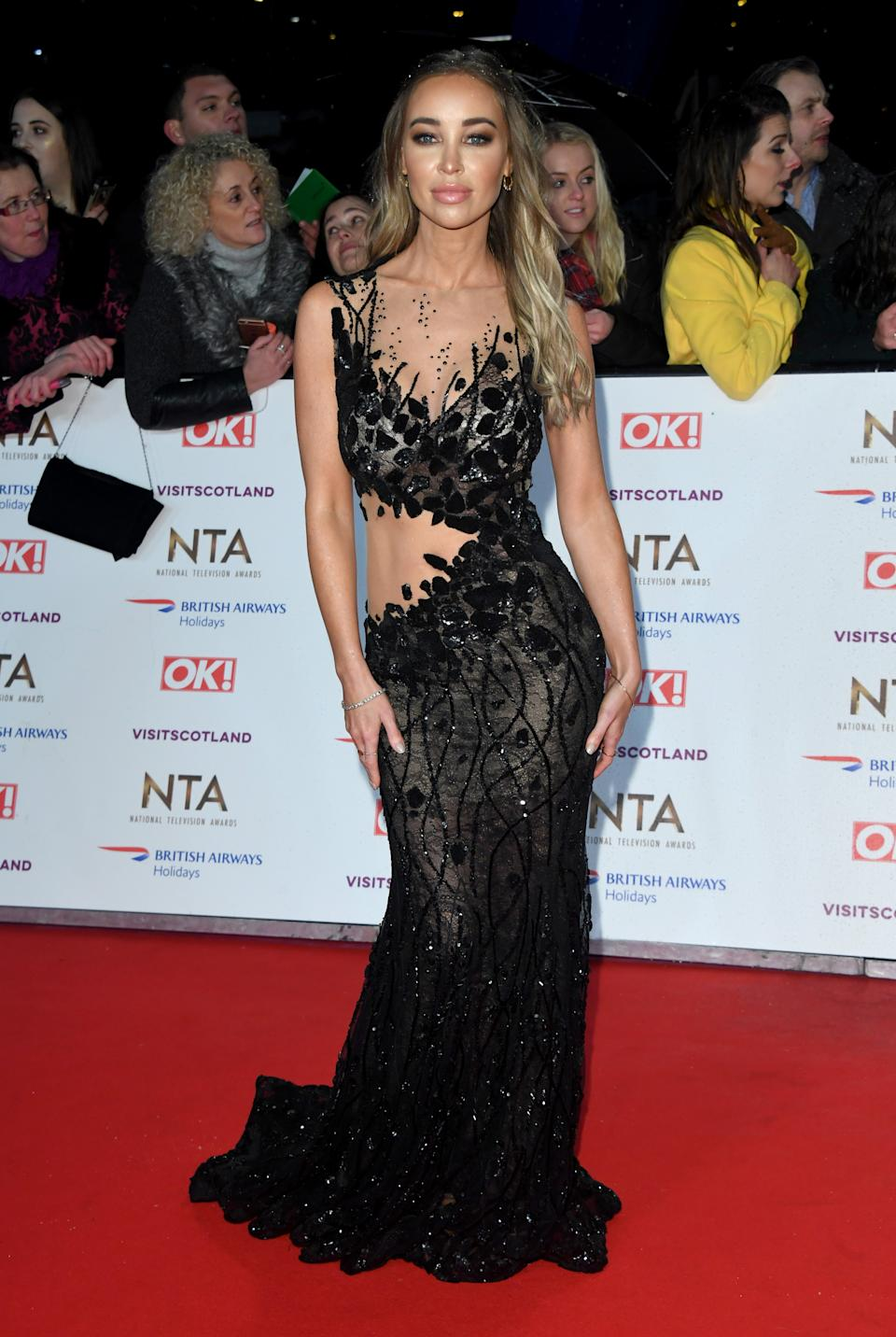 Lauren Pope, who starred in TOWIE until 2019, at the National Television Awards 2019. (Getty Images)