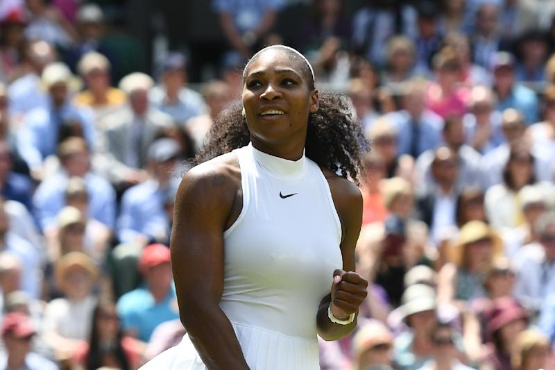 Queen of Centre Court Serena Williams in action at Wimbledon on her last appearance in 2016