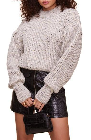 <p>From office days to cozy nights at home, this <span>Regis Sweater</span> ($98) packs a lot of warmth.</p>