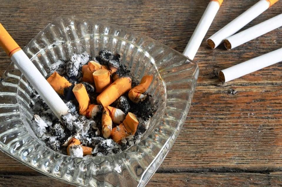 "If you've scrubbed every inch of your home and it still smells like stale cigarettes, the problem is likely more severe than meets the eye. ""Whether you bought the house with the smoke smell or <a href=""https://bestlifeonline.com/best-way-to-stop-smoking/?utm_source=yahoo-news&utm_medium=feed&utm_campaign=yahoo-feed"" rel=""nofollow noopener"" target=""_blank"" data-ylk=""slk:smoked in it yourself"" class=""link rapid-noclick-resp"">smoked in it yourself</a>, smoke can penetrate deeper than you might think,"" says Fager. ""In addition to walls, ceilings, window treatments, and floors, smoke can soak into carpet padding, ductwork, insulation, studs, and even the dirt in your crawlspace,"" leading to <a href=""https://www.ncbi.nlm.nih.gov/pmc/articles/PMC4765971/"" rel=""nofollow noopener"" target=""_blank"" data-ylk=""slk:third-hand smoke exposure"" class=""link rapid-noclick-resp"">third-hand smoke exposure</a>, a potential health hazard."