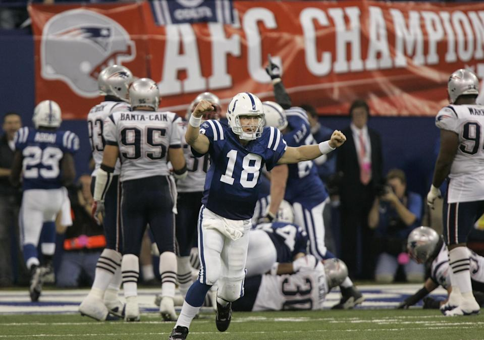 Peyton Manning finally erased some of his demons 10 years ago this week against the New England Patriots. (AP)