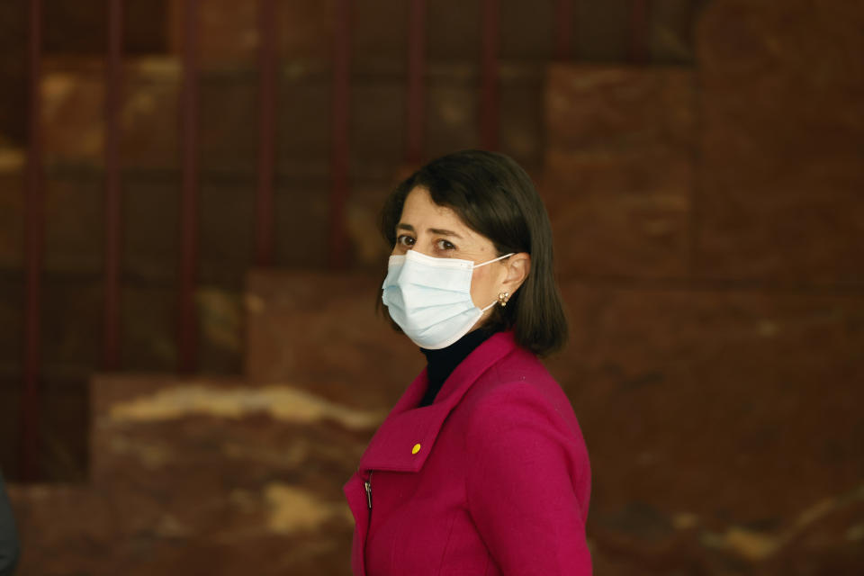NSW Premier Gladys Berejiklian has given no indication when the country's biggest city could exit lockdown measures. Source: Getty