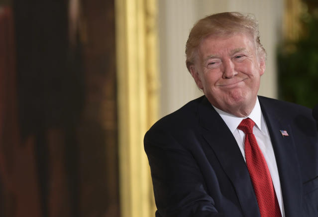 One of President Donald Trump's favorite topics of discussion has been the big run we've seen in the stock market this year.  (AP Photo/Susan Walsh)