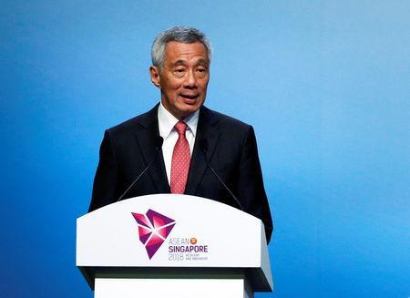 Singapore's Prime Minister Lee Hsien Loong speaks during the opening ceremony of the 33rd ASEAN Summit in Singapore November 13, 2018. REUTERS/Edgar Su