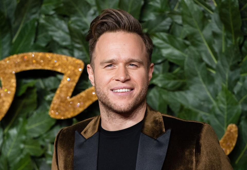 Olly Murs has given a first glimpse at his impressive body transformation (Getty)