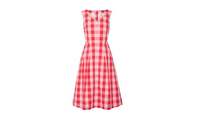 "<p>Cutout Gingham Cotton-Poplin Dress, $375, <a href=""https://www.net-a-porter.com/us/en/product/842129/Draper_James/cutout-gingham-cotton-poplin-dress"" rel=""nofollow noopener"" target=""_blank"" data-ylk=""slk:net-a-porter.com"" class=""link rapid-noclick-resp"">net-a-porter.com</a> </p>"