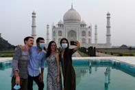 The Taj Mahal reopened to visitors even as India looks set to overtake the US as the global leader in coronavirus infections