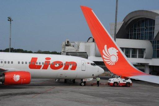 An Indonesian Lion Air Boeing 737 aircraft is seen parked at Makassar airport, on Sulawesi island, on June 21, 2011