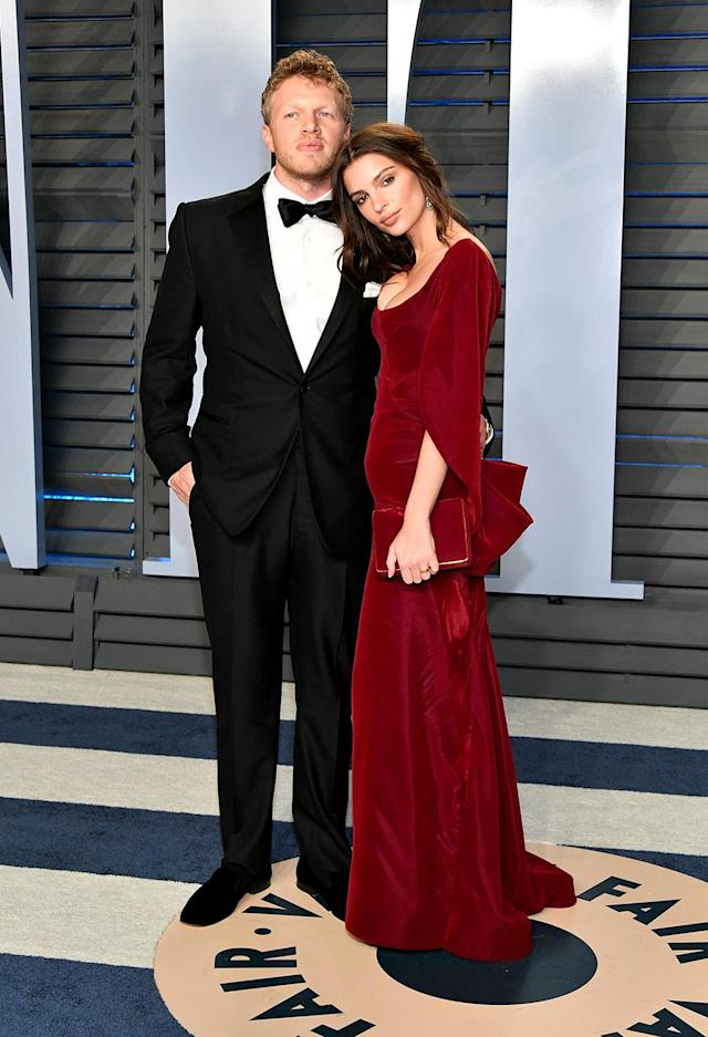 <p>Hollywood honeymoon: The model and actress brought her brand-new husband, Sebastian Bear-McClard, as her plus one.(Photo: Dia Dipasupil/Getty Images) </p>