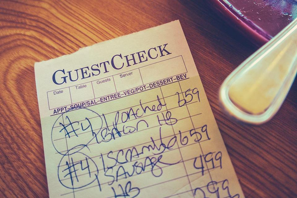 <p>Old-school diners still keep things simple by scribbling your order onto a pad of paper, but before digital registers became a mainstay, that's how your bill arrived at every restaurant.</p>