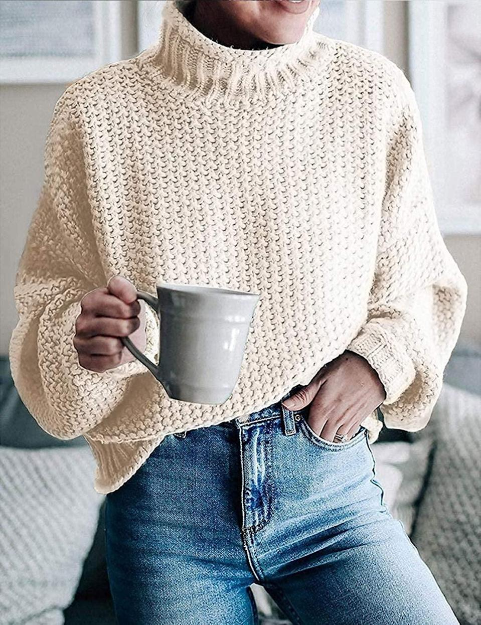 <p>Stay cozy in this <span>Zesica Turtleneck Sweater</span> ($33).</p>