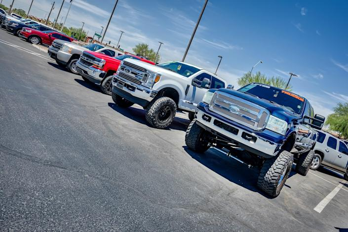 Pickups sold by Lifted Trucks in Arizona