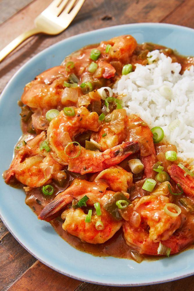 "<p>Serve it with rice, farro, quinoa, or some nice, crusty bread!</p><p>Get the recipe from <a href=""https://www.delish.com/cooking/recipe-ideas/recipes/a3520/shrimp-touffe-recipe-8252/"" rel=""nofollow noopener"" target=""_blank"" data-ylk=""slk:Delish"" class=""link rapid-noclick-resp"">Delish</a>.</p>"