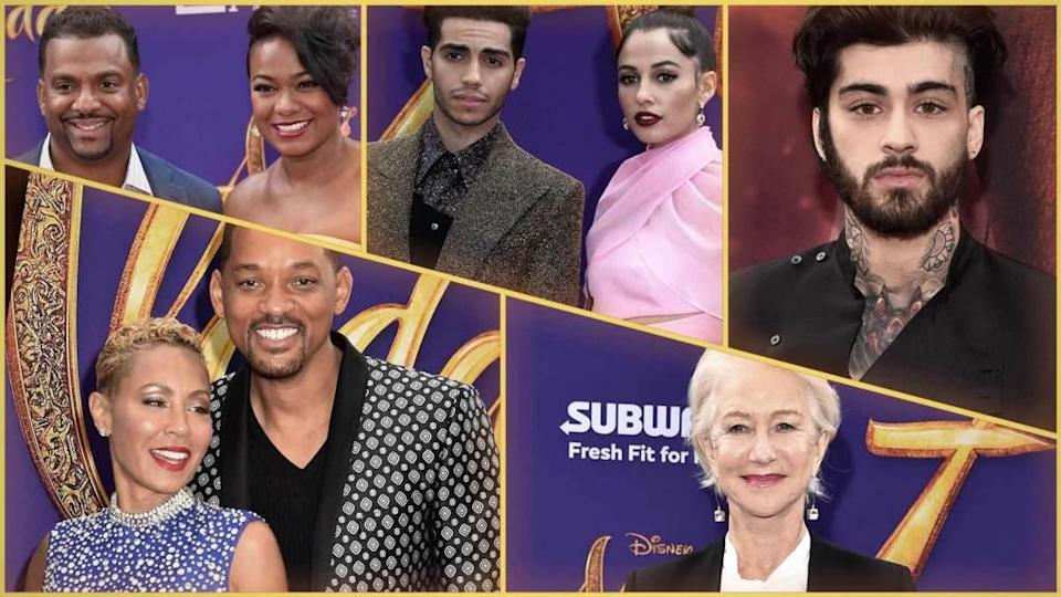 """<p>Will Smith was the star of the biggest event in Hollywood on Tuesday night, leading the high-profile pack during the """"Aladdin"""" premiere. The actor, who plays the Genie in the Disney film, was one of many stars who walked the purple carpet during the Los Angeles premiere at El Capitan Theatre. Showing a united front […]</p> <p>The post <a rel=""""nofollow noopener"""" href=""""https://theblast.com/will-smith-aladdin-premiere/"""" target=""""_blank"""" data-ylk=""""slk:Will Smith's 'Aladdin' Premiere Transforms Hollywood Into One Big Arabian Night"""" class=""""link rapid-noclick-resp"""">Will Smith's 'Aladdin' Premiere Transforms Hollywood Into One Big Arabian Night</a> appeared first on <a rel=""""nofollow noopener"""" href=""""https://theblast.com"""" target=""""_blank"""" data-ylk=""""slk:The Blast"""" class=""""link rapid-noclick-resp"""">The Blast</a>.</p>"""