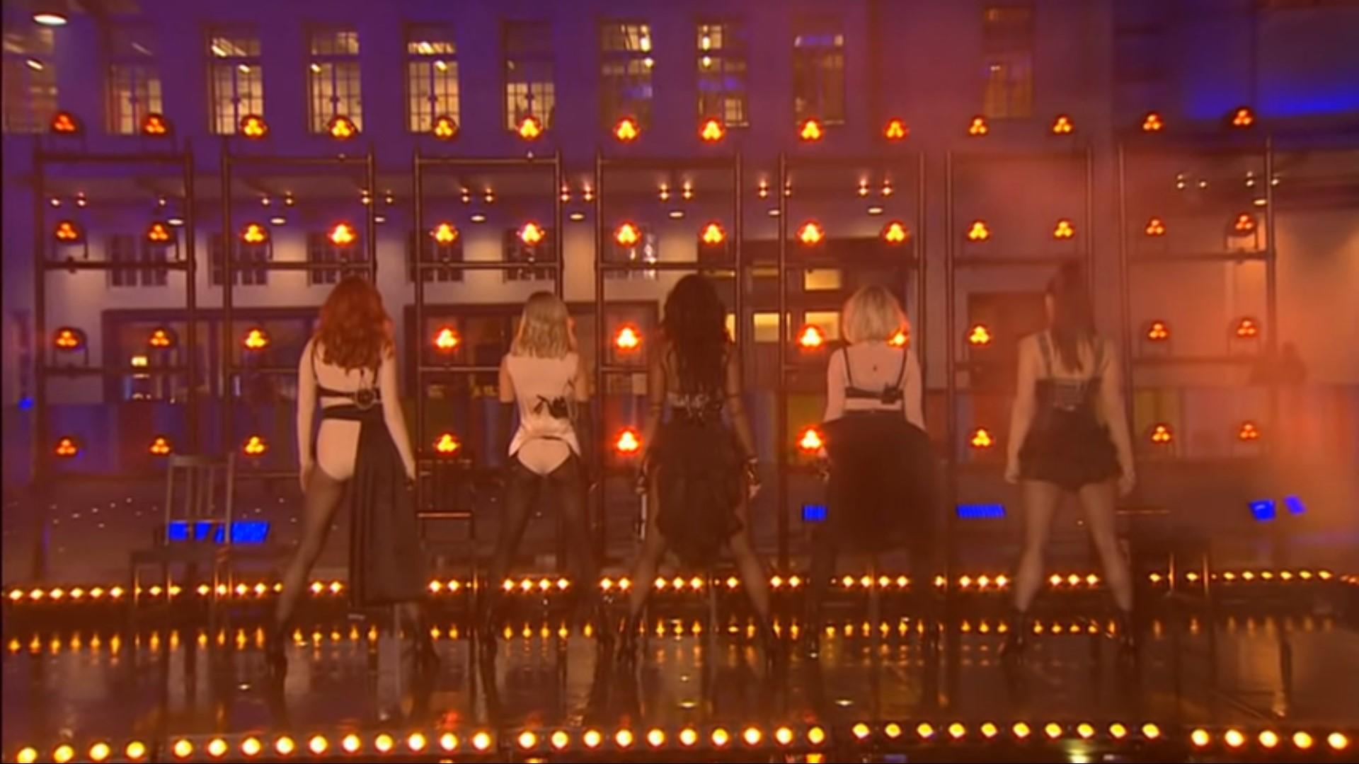 The Pussycat Dolls suffered from a major technical glitch while performing live on BBC's 'The One Show' on Wednesday 26 February (BBC One)