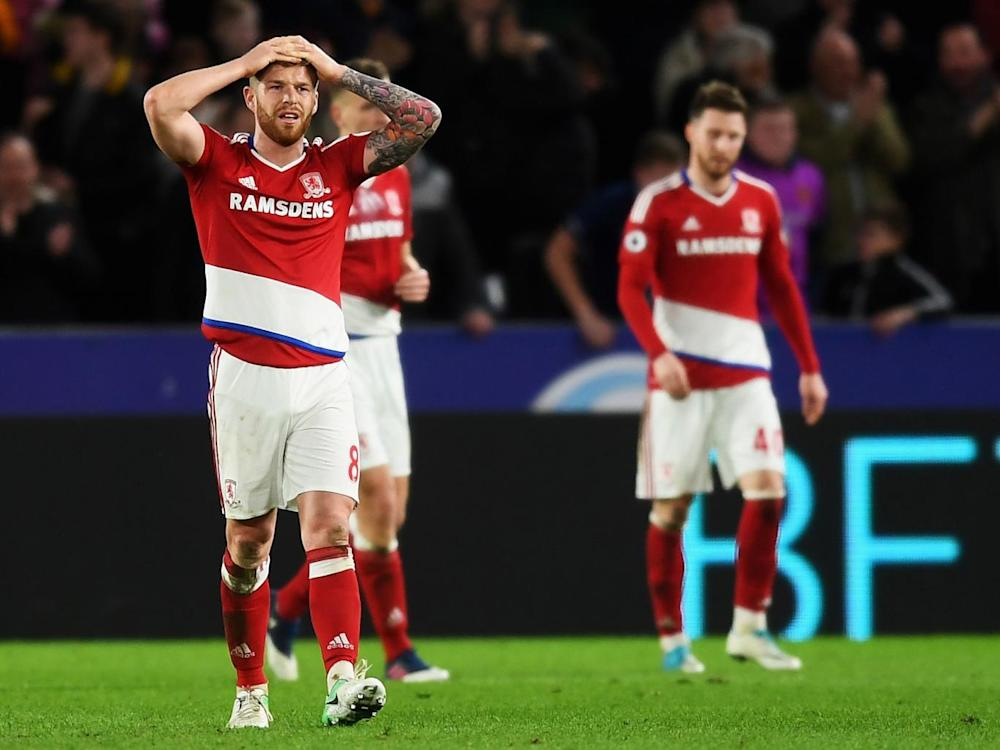 Middlesbrough are left staring at relegation (Getty)
