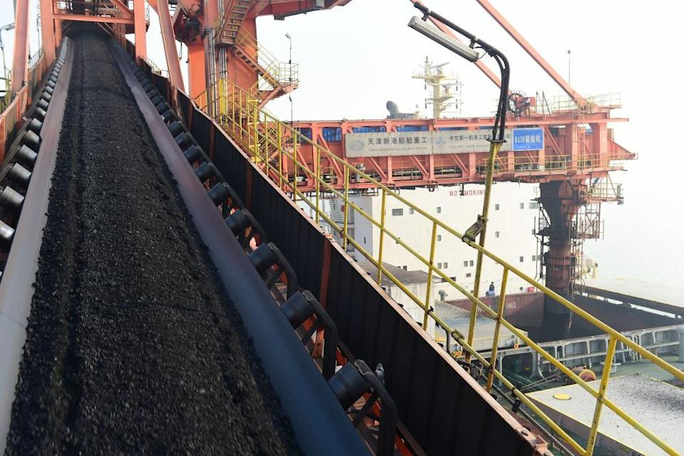 China Hebei Cangzhou Huanghua Port Thermal Coal Shipment - 22 Dec 2020Mandatory Credit: Photo by Xinhua/REX/Shutterstock (11660503d) Photo taken on Dec. 22, 2020 shows loading equipment in operation at a coal dock of Huanghua Port in Cangzhou City, north China's Hebei Province. Huanghua Port, one of the key ports for thermal coal transportation in China, has stepped up its turnover rate since this December. A daily average of 500,000 tonnes of thermal coal is loaded to ships at the port now to quench the thirst for coal-fired power generation in southern parts of the country. China Hebei Cangzhou Huanghua Port Thermal Coal Shipment - 22 Dec 2020