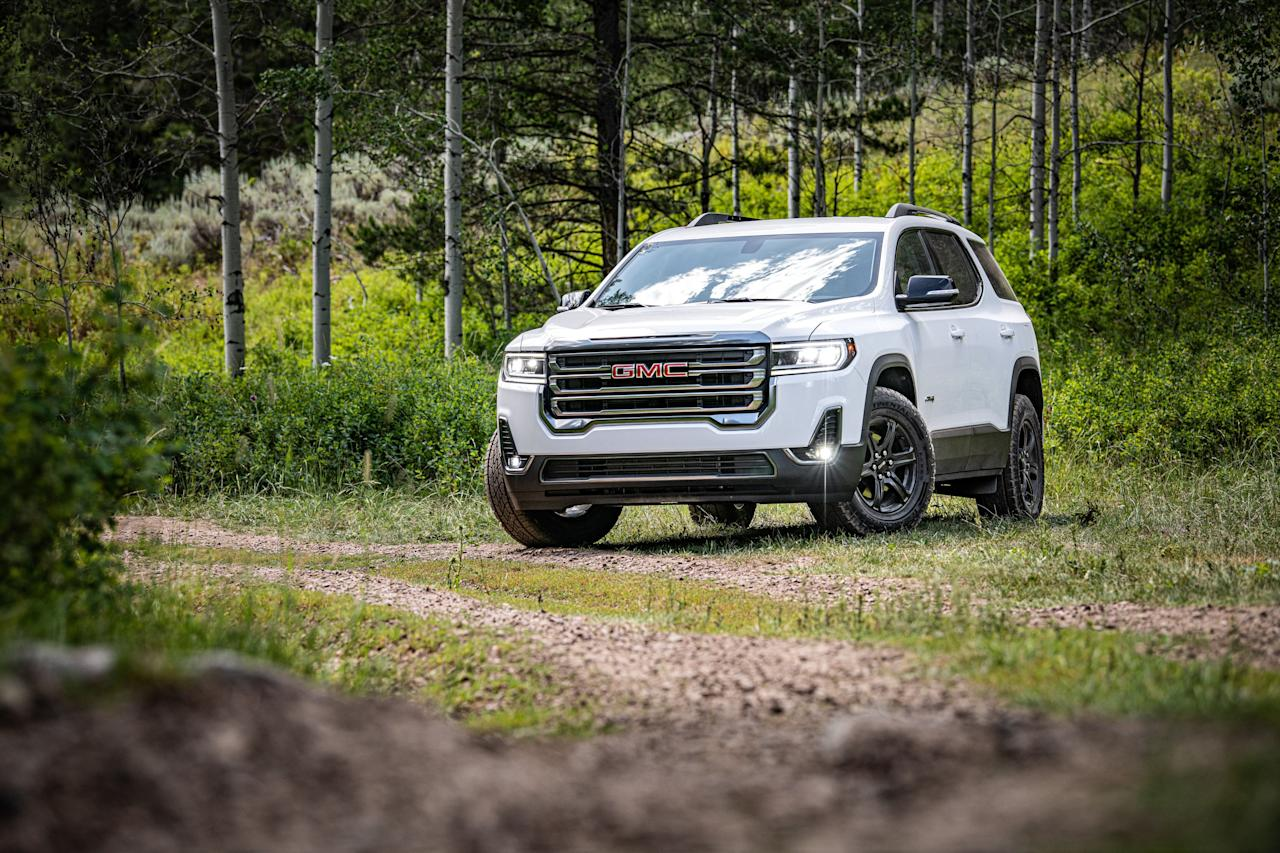 "<p>The GMC Acadia benefits from a host of mechanical and cosmetic upgrades for the 2020 model year, as well as a new rugged-looking AT4 trim level. Read the full story <a href=""https://www.caranddriver.com/reviews/a29538377/2020-gmc-acadia-drive/"" target=""_blank"">here</a>.</p>"