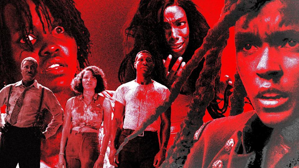 Are we in a Golden Age of Black Horror? (Photo: Illustration: Damon Dahlen/HuffPost; Photos: Hulu/Lionsgate/HBO/Universal)
