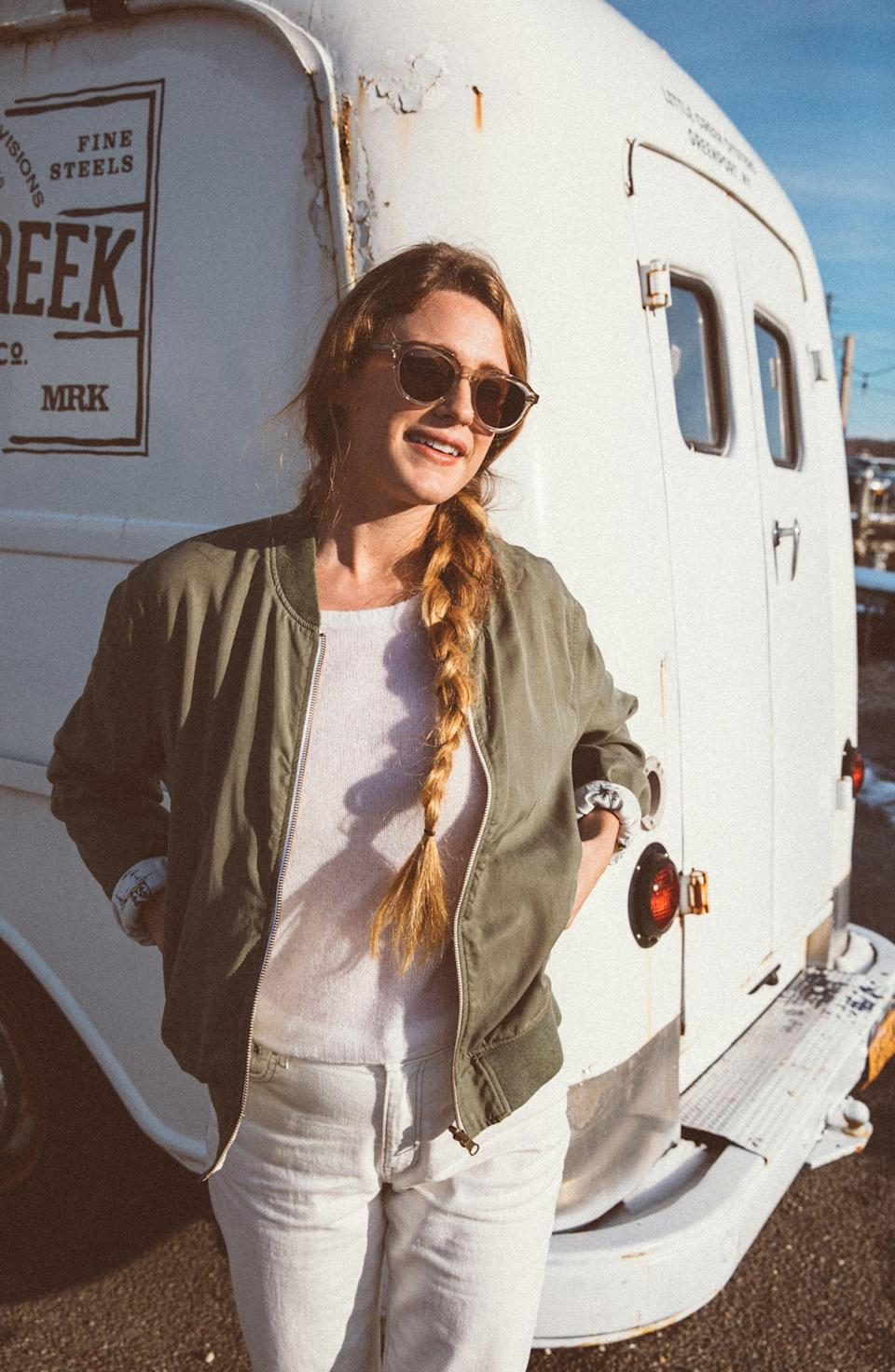 """<p><strong>FAHERTY</strong></p><p>nordstrom.com</p><p><strong>$186.00</strong></p><p><a href=""""https://go.redirectingat.com?id=74968X1596630&url=https%3A%2F%2Fshop.nordstrom.com%2Fs%2Ffaherty-aloha-reversible-bomber-jacket%2F5564281&sref=https%3A%2F%2Fwww.goodhousekeeping.com%2Fbeauty%2Ffashion%2Fg32585880%2Frainy-day-outfits%2F"""" rel=""""nofollow noopener"""" target=""""_blank"""" data-ylk=""""slk:Shop Now"""" class=""""link rapid-noclick-resp"""">Shop Now</a></p><p>This reversible bomber jacket is classic army green on one side and a fun tropical print on the other. Great for the transitional time of year when you need something light. Pair this bomber on a drizzly day with a white sweatshirt and jeans for a little extra edge.</p>"""