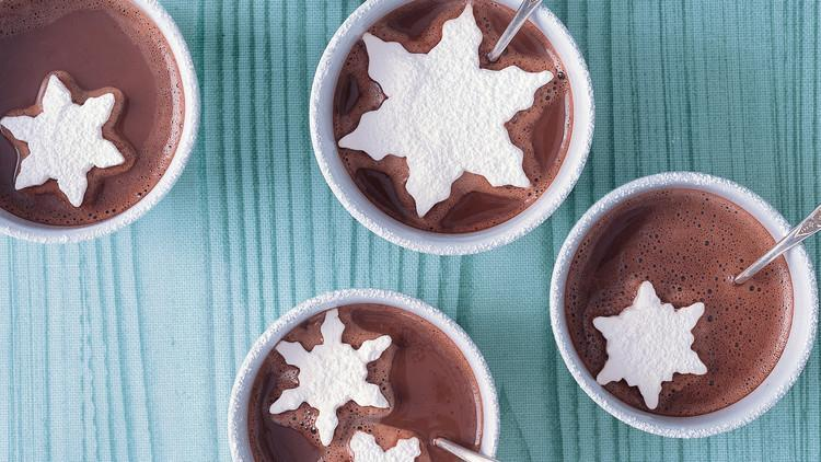 "<p>Give <a href=""https://www.marthastewart.com/874616/hot-chocolate-recipes"" rel=""nofollow noopener"" target=""_blank"" data-ylk=""slk:your cup of hot cocoa"" class=""link rapid-noclick-resp"">your cup of hot cocoa</a> an extra dose of sweetness with homemade marshmallows cut into the shape of snowflakes. We can't imagine a more festive treat for a snow day. <a href=""https://www.marthastewart.com/334710/marshmallow-snowflakes"" rel=""nofollow noopener"" target=""_blank"" data-ylk=""slk:View recipe"" class=""link rapid-noclick-resp""> View recipe </a></p>"