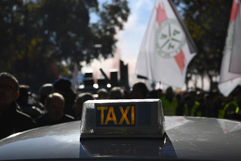 Spanish taxi drivers have staged protests, complaining that Uber flouts local regulations