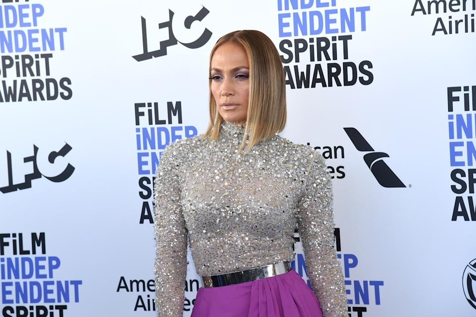 SANTA MONICA, CALIFORNIA - FEBRUARY 08: Jennifer Lopez attends the 2020 Film Independent Spirit Awards on February 08, 2020 in Santa Monica, California. (Photo by Jeff Kravitz/FilmMagic)