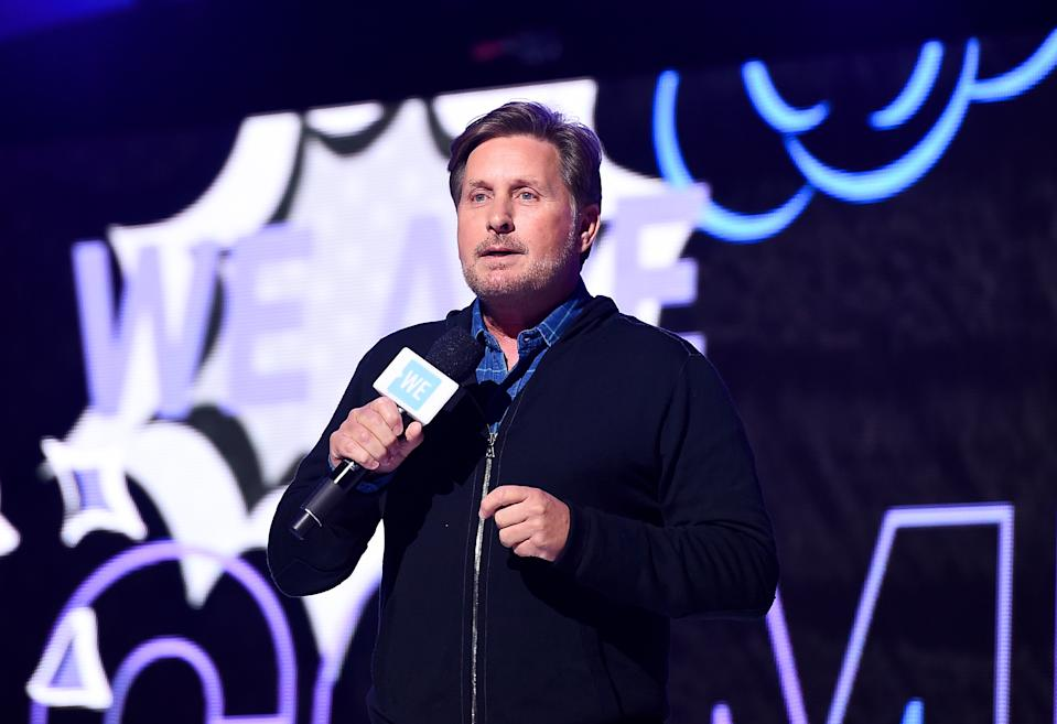 Emilio Estevez speaks onstage during WE Day UN 2019 on September 25, 2019. (Photo by Ilya S. Savenok/Getty Images for WE Day)