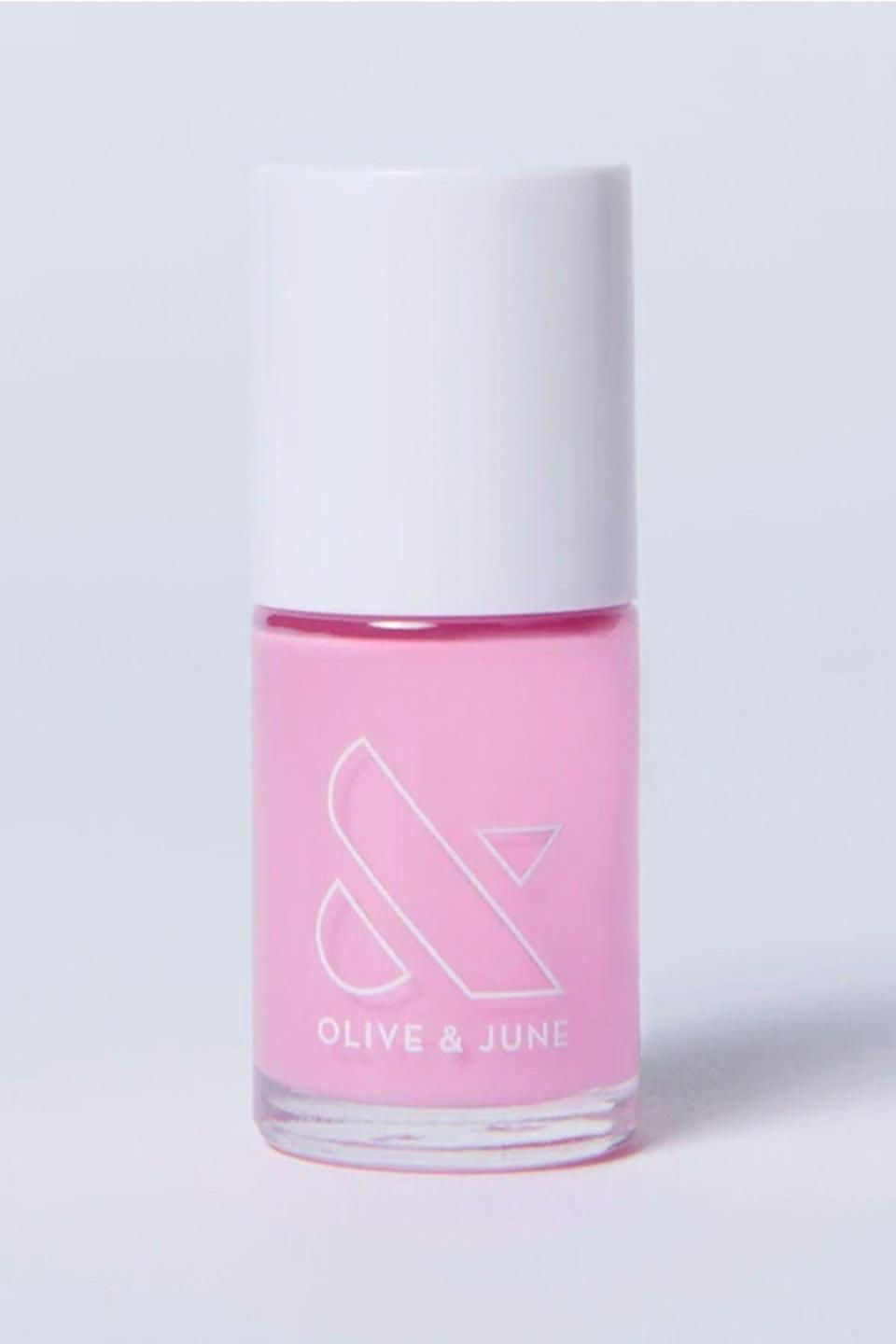 """<p><strong>Olive & June</strong></p><p>oliveandjune.com</p><p><strong>$8.00</strong></p><p><a href=""""https://go.redirectingat.com?id=74968X1596630&url=https%3A%2F%2Foliveandjune.com%2Fcollections%2Fthe-pinks%2Fproducts%2Fjm&sref=https%3A%2F%2Fwww.seventeen.com%2Fbeauty%2Fnails%2Fg2741%2Fbest-spring-nail-colors%2F"""" rel=""""nofollow noopener"""" target=""""_blank"""" data-ylk=""""slk:SHOP NOW"""" class=""""link rapid-noclick-resp"""">SHOP NOW</a></p><p>Upgrade your tired pink nails with this lavender-toned version — it'll remind you of your favorite florals.</p>"""