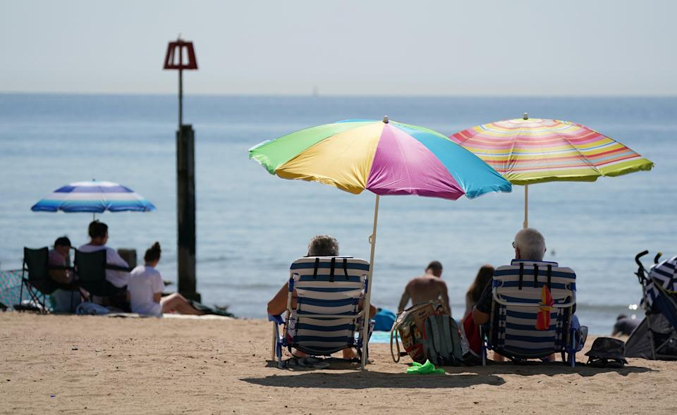 Beaches were popular as the UK basked in the sunshine (Andrew Matthews/PA) (PA Wire)
