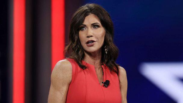 PHOTO: South Dakota Gov. Kristi Noem addresses the Conservative Political Action Conference held in the Hyatt Regency on Feb. 27, 2021, in Orlando, Fla. (Joe Raedle/Getty Images, FILE)