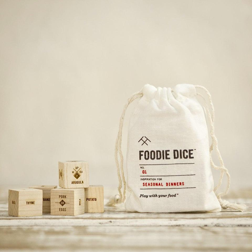 <p>Roll the <span>foodie dice</span> ($24) and try a new recipe with this fun cooking game. </p>