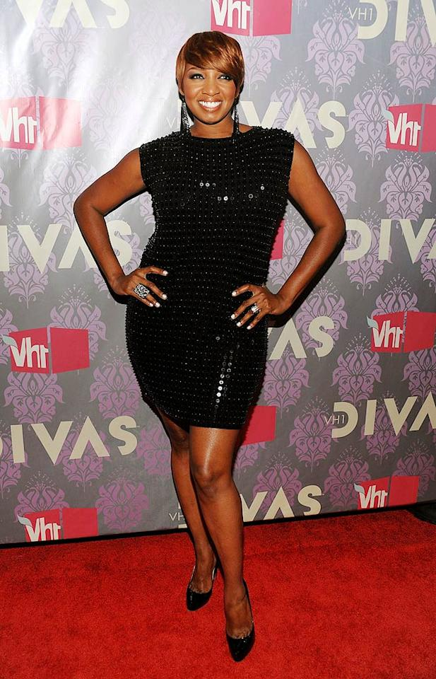 "Kim's co-star, NeNe Leakes, dazzled in a sequined sheath. Dimitrios Kambouris/<a href=""http://www.wireimage.com"" target=""new"">WireImage.com</a> - September 17, 2009"