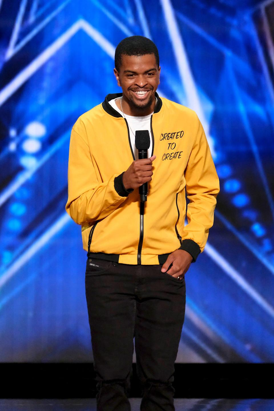 """Brandon Leake is the first spoken-word performer ever to appear on """"America's Got Talent."""""""