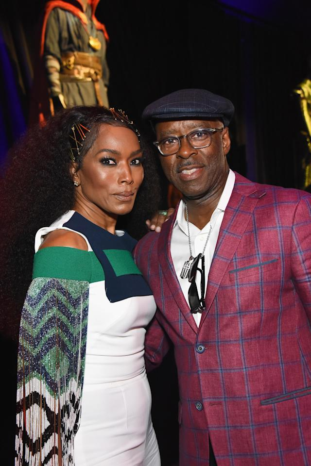 <p>The <em>Black Panther</em> actress, back as Ramonda, attended with her hubby. (Photo: Araya Diaz/Getty Images for Disney) </p>