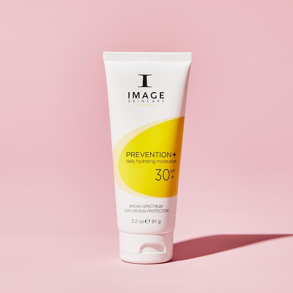 """<p>The sun. It's out to get me with its wrinkle-shooting rays. I shield myself with minimum SPF 30. A friend at Allure introduced met to <a href=""""https://www.amazon.com/IMAGE-Skincare-Prevention-Tinted-Moisturizer/dp/B00FA6M27I/"""">Image Skincare's PREVENTION+ moisturizer,</a> which smells fresh and clean and doesn't have a sticky, sunscreen texture or odor. I slather it on my face, my neck, my upper boob region, and back of the neck, before I confront my enemy. On top of that, I wear a sporty <a href=""""https://www.mlbshop.com/detroit-tigers/womens-detroit-tigers-new-era-navy-team-stated-9twenty-adjustable-hat/t-70665372+p-685477747481+z-8-433302537"""">ball cap</a> to the gym, the farmer's market, and especially the beach. Go Tigers!</p> <p>Buy it: <a href=""""https://www.amazon.com/IMAGE-Skincare-Prevention-Tinted-Moisturizer/dp/B00FA6M27I/"""">Image Prevention+ Daily SPF</a>, $40.</p>"""