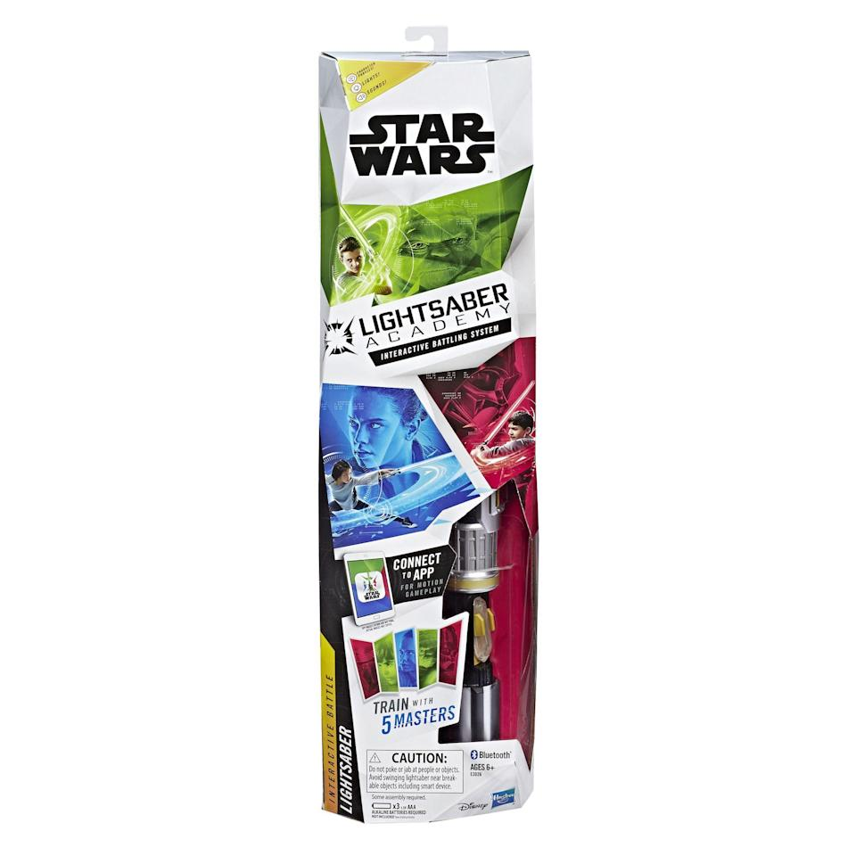 """<p><strong>Star Wars</strong></p><p>walmart.com</p><p><strong>$41.58</strong></p><p><a href=""""https://go.redirectingat.com?id=74968X1596630&url=https%3A%2F%2Fwww.walmart.com%2Fip%2F455172808&sref=https%3A%2F%2Fwww.goodhousekeeping.com%2Fchildrens-products%2Ftoy-reviews%2Fg29413969%2Fbest-toys-gifts-for-7-year-old-boys%2F"""" rel=""""nofollow noopener"""" target=""""_blank"""" data-ylk=""""slk:Shop Now"""" class=""""link rapid-noclick-resp"""">Shop Now</a></p><p>This lightsaber interacts with the lightsaber app, which lets kids train with Jedi masters or go on fun missions. <strong>The hilt has an accelerometer, a gyroscope and a barometer</strong>, so it really tracks the moves your kids make. <em>Ages 5+</em></p>"""