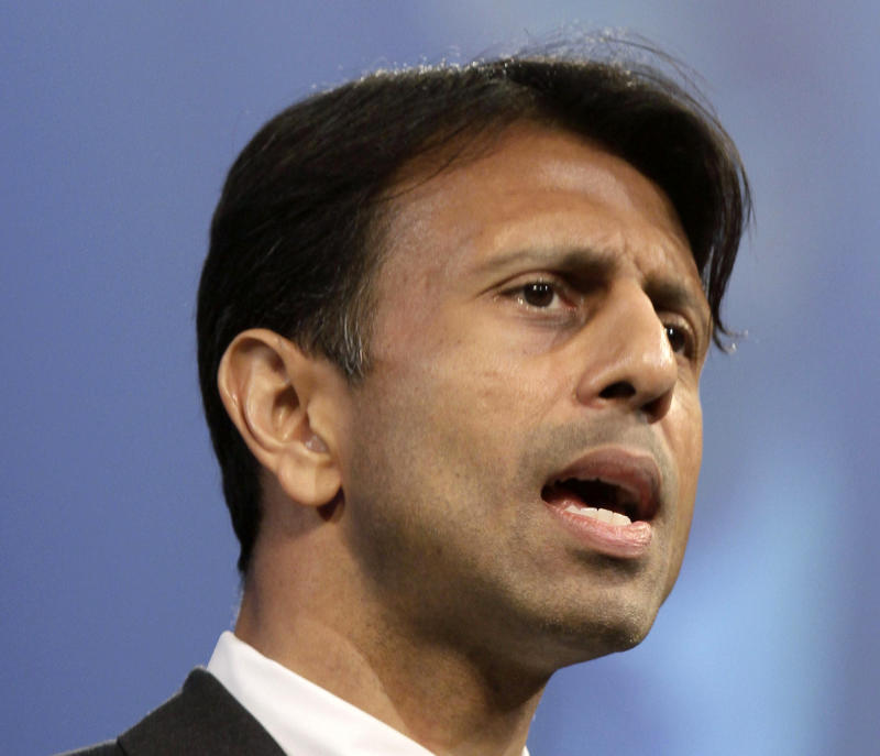 FILE - This July 27, 2012 file photo shows Louisiana Gov. Bobby Jindal speaking in Hot Springs, Ark. The Grand Old Party needs to get with the times. That's according to many Republicans who talked of the party's challenges following the GOP's electoral shellacking.    (AP Photo/Danny Johnston, File)