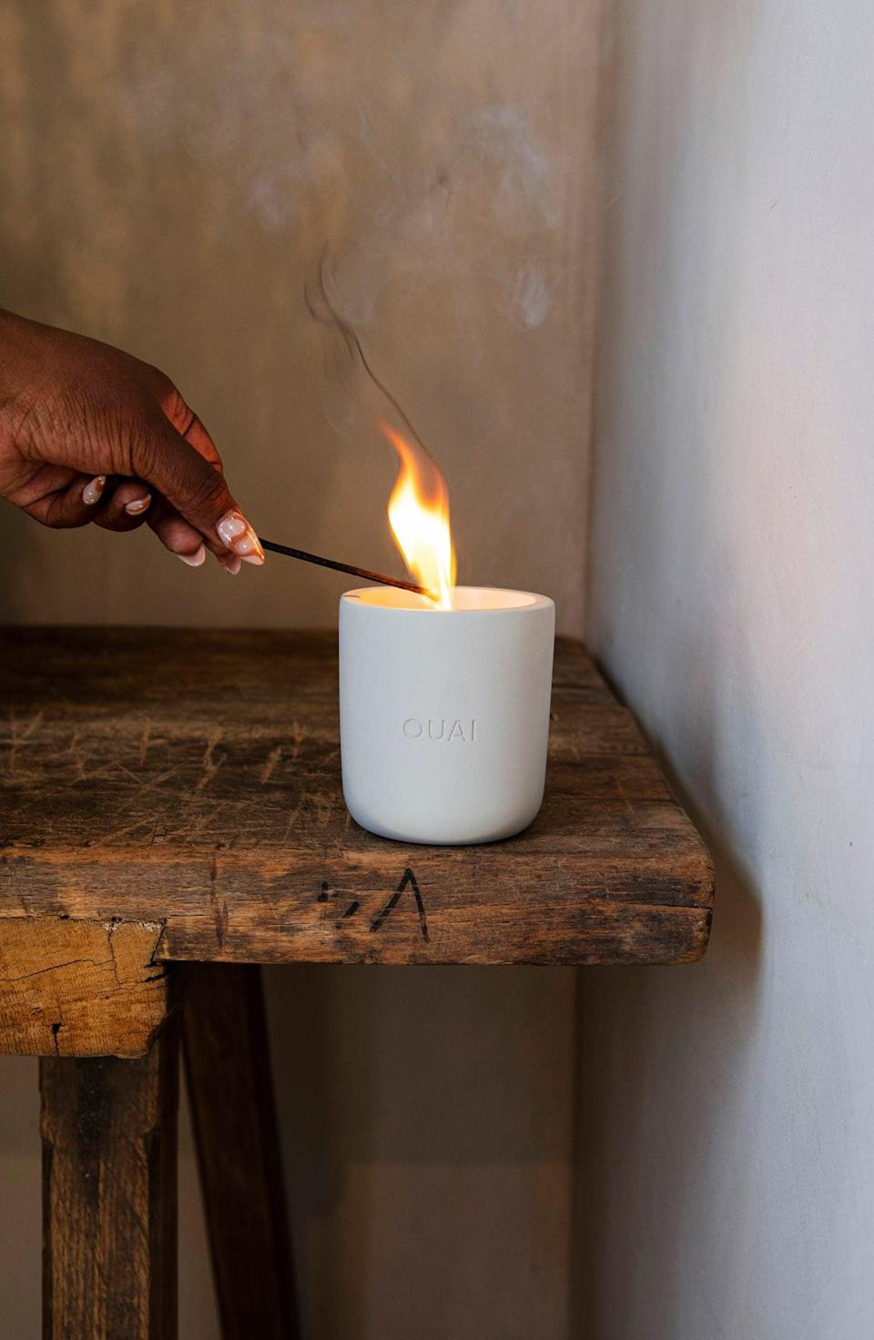 """<p>""""I'm a longtime fan of Ouai's scents, but the brand's new <span> North Bondi Candle</span> ($44) is on a whole other level. The scent may have floral notes, but its rich, musky smell makes it perfect for a cool fall day. And it doesn't hurt that it looks incredibly chic sitting on my coffee table."""" - Yerin Kim, associate editor, Trending and Viral Features</p>"""